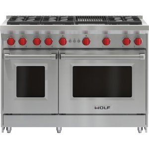"Wolf48"" Gas Range - 6 Burners and Infrared Charbroiler"