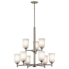Shailene Collection Shailene 9 Light Chandelier - Brushed Nickel NI