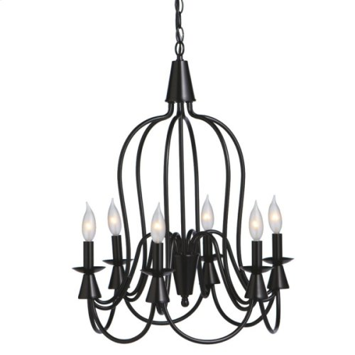 Large Black Bell Chandelier. 25W Max