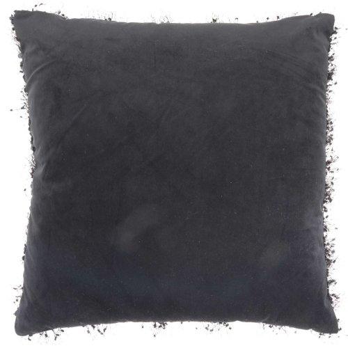 "Shag Vv202 Black 20"" X 20"" Throw Pillow"