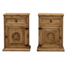"""Left : 22"""" x 16"""" x 30"""" Mansion Nightstand with Star"""