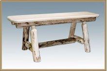 Montana Log Small Plank Style Bench