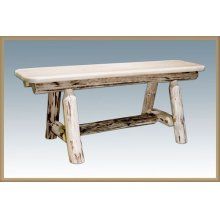Montana Log Small Plank Style Bench
