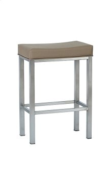 Seattle BSS501H26XB Stainless Steel Non Swivel Backless Bar Stool