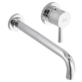 Serin 1-Handle Wall-Mount Bathroom Faucet - Brushed Nickel