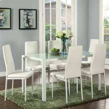 Contra 7pc Dining Set in Whte
