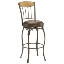 Lakeview Wood Back Swivel Counter Stool