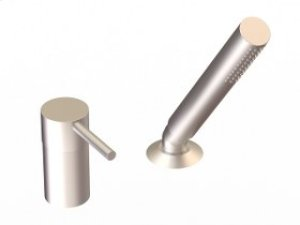 Deck Mount Hand Shower and Control - Brushed Nickel Product Image