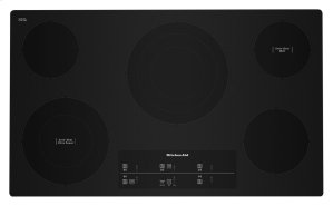 "36"" Electric Cooktop with 5 Elements and Touch-Activated Controls - Black Product Image"