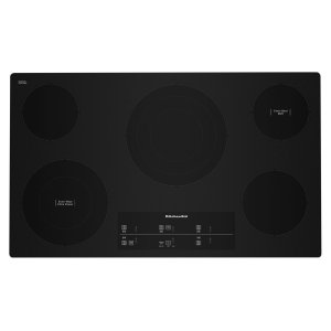 "Kitchenaid36"" Electric Cooktop with 5 Elements and Touch-Activated Controls - Black"