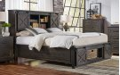 CAL-KING BED - STORAGE HEADBOARD W/ ROTATING STORAGE Product Image
