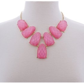 BTQ Pink Jewel Necklace