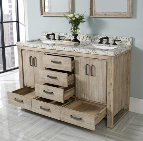 "Additional Oasis 60"" Double Bowl Vanity"