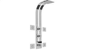 Square Thermostatic Ski Shower Set w/Body Sprays (Rough & Trim)