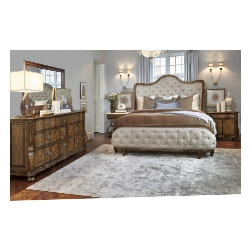 Continental California King Shelter Bed - Weathered Nutmeg