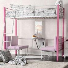 Lambert Twin/twin Bunk Bed, Pink