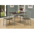 DINING SET - 5PCS SET / CAPPUCCINO / SILVER METAL Product Image