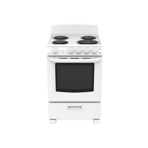 "GE 24"" 2.9 cu ft Free Standing Electric Standard Clean Range"