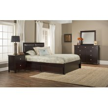 Metro 4pc Espresso Bedroom with Martin King Storage Bed