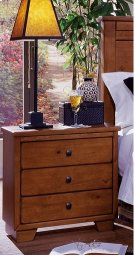 Night Stand - Cinnamon Pine Finish Product Image
