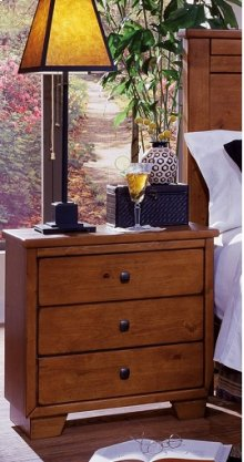 Night Stand - Cinnamon Pine Finish