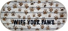 """Cozy Cabin Wipe Your Paws 20""""x44"""" Oval"""
