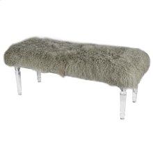 Mongolian Acrylic Bench, Gray