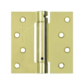"4""x 4"" Spring Hinge, UL Listed - Polished Brass"