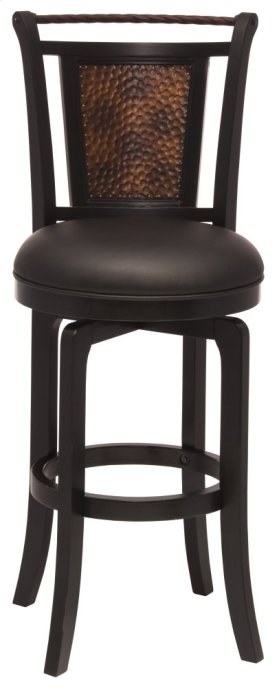Norwood Swivel Bar Stool - Black