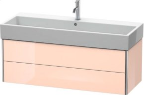 Vanity Unit Wall-mounted, Apricot Pearl High Gloss Lacquer