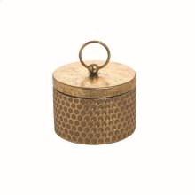 Gold Hammered Trinket Box