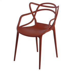 Russell Molded PP Arm Chair, Burnt Orange
