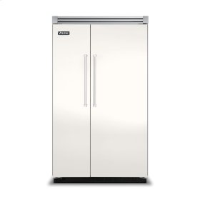 """Cotton White 48"""" Side-by-Side Refrigerator/Freezer - VISB (Integrated Installation)"""