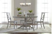 Everyday Classics Round To Oval Dining Table- Dove Product Image