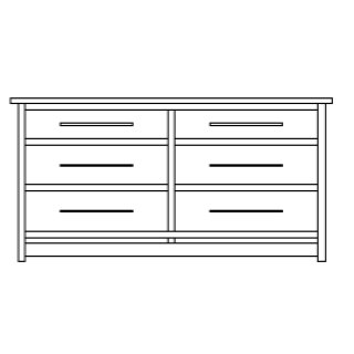 "Hyde Park 6 Drawer 69"" Dresser"