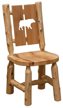 Cut-out Side Chair Bear, Wood Seat
