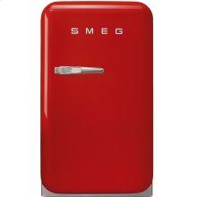 50's Retro Style Mini Refrigerator, Red, Right hand hinge