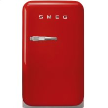 "Approx 16"" 50's Retro Style Mini Refrigerator, Red, Right hand hinge"