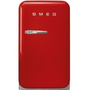 "SmegApprox 16"" 50's Retro Style Mini Refrigerator, Red, Right hand hinge"