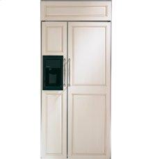 "GE Monogram® 36"" Built-In Side-by-Side Refrigerator with Dispenser"