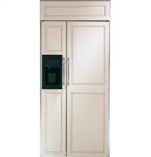 "GE Monogram® 36"" Built-In Side-by-Side Refrigerator with Dispenser"