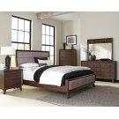 Bingham Retro-modern Brown Upholstered Queen Five-piece Bedroom Set Product Image