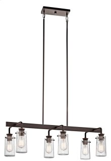 Braelyn 6 Light Linear Chandelier Olde Bronze®