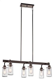 Braelyn 6 Light Linear Chandelier Olde Bronze®