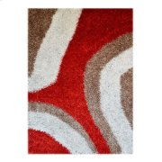 Shaggy Rug With Orange - Red -tan (pile Height 5cm, Pile Weight 3400g/sqm) Product Image