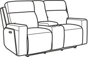 Niko Leather Power Reclining Loveseat with Console and Power Headrests Product Image