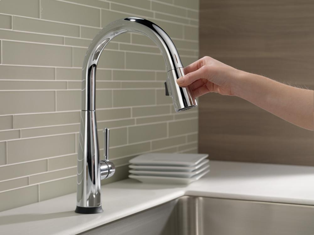 Hidden · Additional Chrome Single Handle Pull Down Kitchen Faucet With  Touch 2 O ® Technology