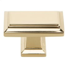 Sutton Place Rectangle Knob 1 7/16 Inch - French Gold
