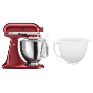KitchenaidExclusive Artisan® Series Stand Mixer & Ceramic Bowl Set - Empire Red