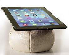 The Saddle Ipad Holder, Leather, Creme